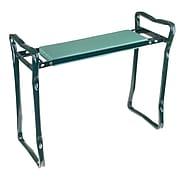 """Pure Garden 24""""W Green Gardening Bench Steel Frame with Foam (M150063)"""