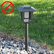 Pure Garden Solar Powered Black LED Bug Zapper (M150070)