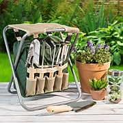 Pure Garden Gardening Stool with Tools (M150062)