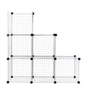 """Everyday Home 14"""" Mesh Storage Cubes Silver 6-Pack (M050009)"""