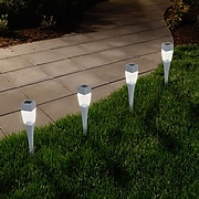 Pure Garden LED Solar Path Lights Silver (M150090)