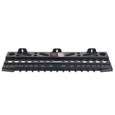 "Stalwart Wall Mount Tool Shelf Organizer 22.5""W, Black Polypropylene (M220003)"