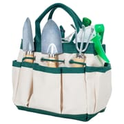 Pure Garden 7 Piece Wood and Metal Indoor Garden Tool Set (M150001)