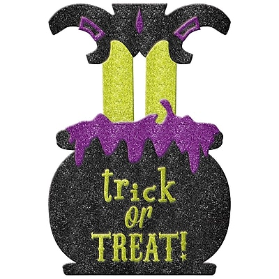 Amscan Witch Trick-or-Treat Glitter Yard Sign, 22
