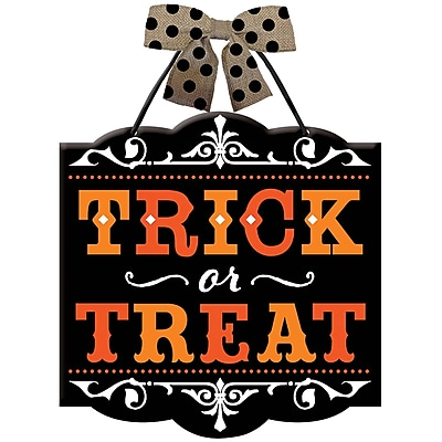 Amscan Trick-or-Treat Hanging Sign, 12