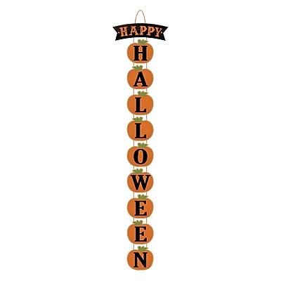 Amscan Happy Halloween Stacked Pumpkin Sign, 37