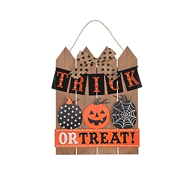 Amscan Picket Fence Trick-or-Treat Sign, 15.5