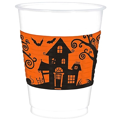 Amscan Frightfully Fancy Cups, 16 oz., Plastic, 2/Pack, 25 Per Pack (421162)