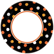 """Amscan Haunt Couture Plates, 6.75"""" x 6.75"""", Paper, 8/Pack, 40 Per Pack (541851)"""