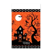 "Amscan Halloween Frightfully Fancy Tablecover, 102"" x 54"", Plastic, 3/Pack (571162)"