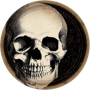 """Amscan Boneyard Skull Plates, 9"""" x 9"""", Paper, 60 Per Pack (751346)"""