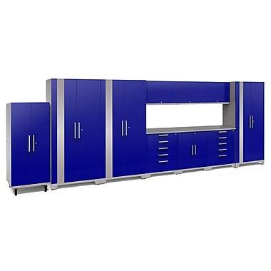 NewAge Performance Plus 2.0 Blue 11 Piece Storage Cabinet Set, Stainless Steel Worktop (53358)