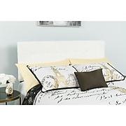 "Flash Furniture HERCULES Series Twin Headboard Fabric, 39.25""W x 2.5""D x 41.75"" - 54.25""H, White (HGHB1704TW)"