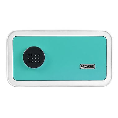 The EDGE by Cannon™ Steel White/Teal Home Safe (E916-CSPL-17)