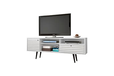 Manhattan Comfort Liberty MDP and MDF TV Stand, White (202AMC6)