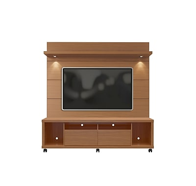 Manhattan Comfort Cabrini MDF TV Stand and Wall Panel, Maple Cream and Off White (2-1545482254)
