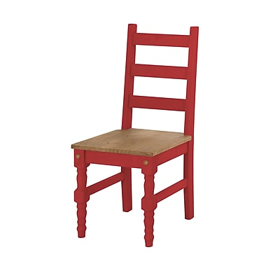 Manhattan Comfort Jay Dining Chair, Red Set of 2 (CS10103)