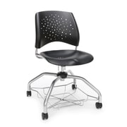 Stars Foresee Plastic Chair, Black (329-P-BLK)