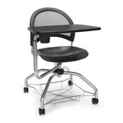 Moon Foresee Plastic Tablet Chair, Black (339T-P-BLK)