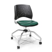 Stars Foresee Vinyl Chair, Teal (329-VAM-602)