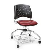 Stars Foresee Vinyl Chair, Wine (329-VAM-603)