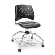 Stars Foresee Vinyl Chair, Charcoal (329-VAM-604)