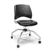 Stars Foresee Vinyl Chair, Black (329-VAM-606)