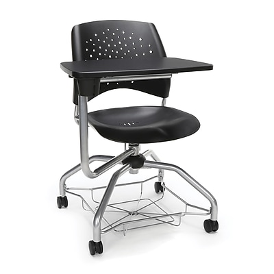 Stars Foresee Plastic Tablet Chair, Black (329T-P-BLK)