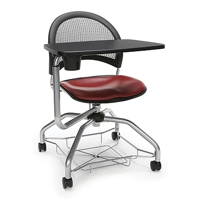 Moon Foresee Vinyl Tablet Chair, Wine (339T-VAM-603)