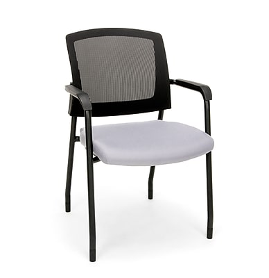 Mesh Chair Guest/Reception Chair with Arms, Gray (424-801)