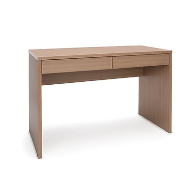Essentials by OFM 2-Drawer Solid Panel Desk, Harvest (ESS-1012-HVT)