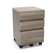 Essentials by OFM 3-Drawer Wheeled Mobile Pedestal Cabinet, Driftwood (ESS-1030-DWD)