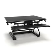 Essentials By OFM Adjustable Desktop Riser with Keyboard Tray, Black (ESS-5136-BLK)