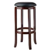 "Winsome Walcott 30"" Round Faux Leather Seat Swivel Bar Stool (94160)"