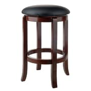 "Winsome Walcott 24"" Round Faux Leather Seat Swivel Counter Stool (94164)"