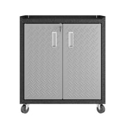 "Manhattan Comfort Fortress 31.5"" Mobile Garage Cabinet, Gray, (IGRG2)"