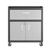 "Manhattan Comfort Fortress 31.5"" Mobile Garage Cabinet, Gray, (IGRG2G)"