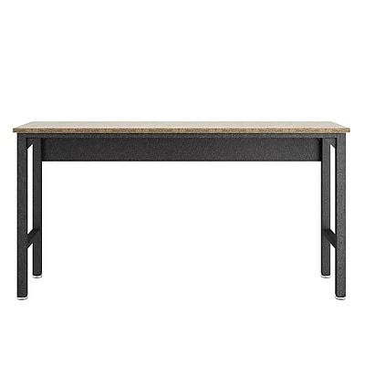Manhattan Comfort Fortress Fortress Garage Table, Gray, (IGRM)