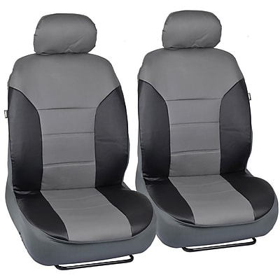Motortrend SC-4935-BG PU Leather Two-Tone Seat Cover for CAR SUV Van4 PCS