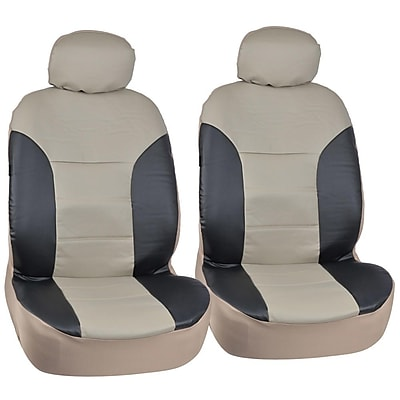 Motortrend SC-4935-BB PU Leather Two-Tone Seat Cover for CAR SUV Van4 PCS
