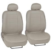 MotorTrend SC-4930-BG Beige PU Leather Low Back Seat Cover for CAR SUV Van 4pcs