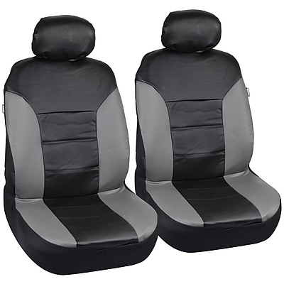 Motortrend SC-4935-GB PU Leather Two-Tone Seat Cover for CAR SUV Van4 PCS