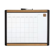 U Brands Pin-It Magnetic Dry Erase Monthly Calendar Board, 20 x 16 Inches, Black Frame (BRN052)