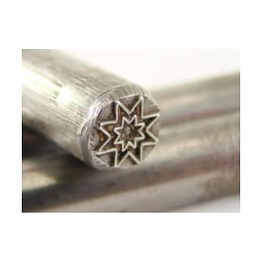 Make Your Own Gold Bars 0.19 in. Gothic Star Symbol Stamp Metal Hardened Gold & Silver Bars (MKYG2396)