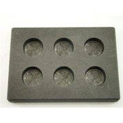 Make Your Own Gold Bars 1 oz. x 6 Round Gold Bar High Density Graphite Mold 6 Cavities 0.5 oz Silver (MKYG2793)