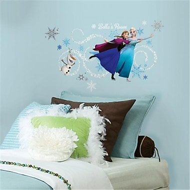 Frozen Custom Headboard Featuring Elsa, Anna & Olaf Peel and Stick Giant Wall Decals (RTL46574)