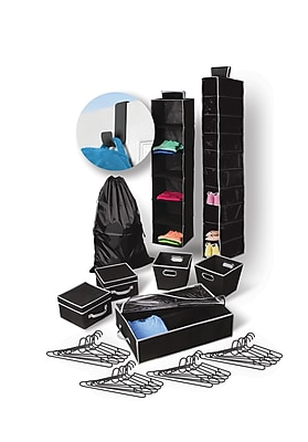 Bintopia Back to School Storage Bundle, 30 Piece Set, Black (22081)
