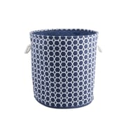 Bintopia Round Hamper & Tote with Rope Handles, Dark Blue (22083)
