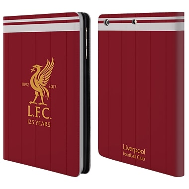 Official Liverpool Football Club Kit 2017/18 Liver Bird Home Shirt Leather Book Wallet Case Cover For Apple Ipad Mini 1 / 2 / 3