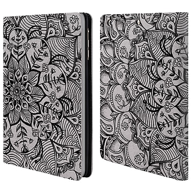Official Micklyn Le Feuvre Mandala 3 Shades Of Grey Leather Book Wallet Case Cover For Apple Ipad Mini 1 / 2 / 3 (D_15_1CFE8)